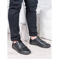 Кеды мужские кожа,обувь мужская черная ,кожаная мужская обувь весна осень,кеды мужские модные,мужская повседне