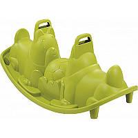 """Дитячі гойдалки подвійні """"Собачки"""" зелені Smoby, фото 1"""