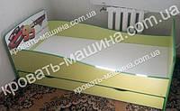 Кровать Тачки Кинг Квин лайм
