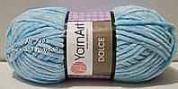 Велюровая (плюшевая) пряжа DOLCE YarnArt № 749 - нежный голубой