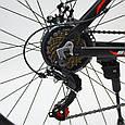 Горный алюминиевый велосипед S300 BLAST-БЛАСТ 26 дюймов  Черно-Оранжевый Япония Shimano, фото 6
