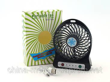 Portable fan xsfs-01, портативный мини вентилятор с фонариком, черный