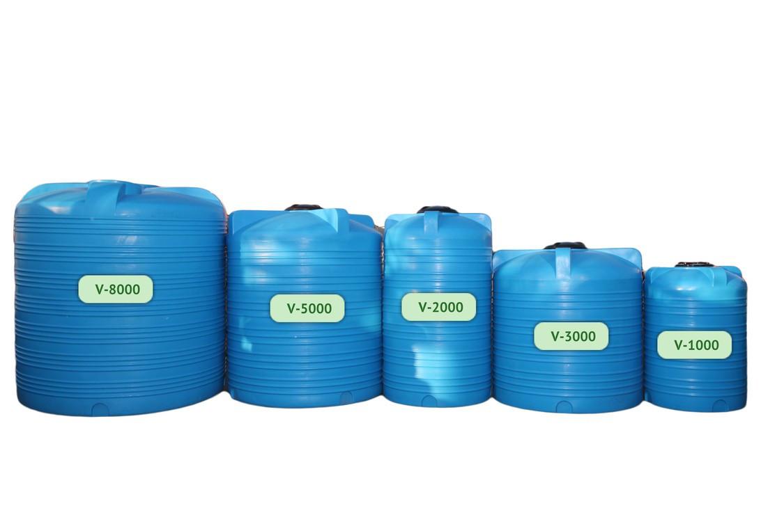 Пищевая бочка пластиковая, бак для воды, 2000л.(2м3)
