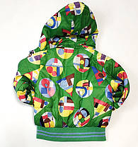 Детский демисезонный комбинезон куртка и штаны для мальчика зелёный 1-2 года, фото 2