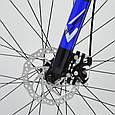 Горный алюминиевый велосипед S300 BLAST-БЛАСТ 26 дюймов  Черно-Оранжевый Япония Shimano Синий, фото 5
