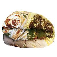 Одеяло Главтекстиль шерстяное размер евро 195*210 крупные цветы