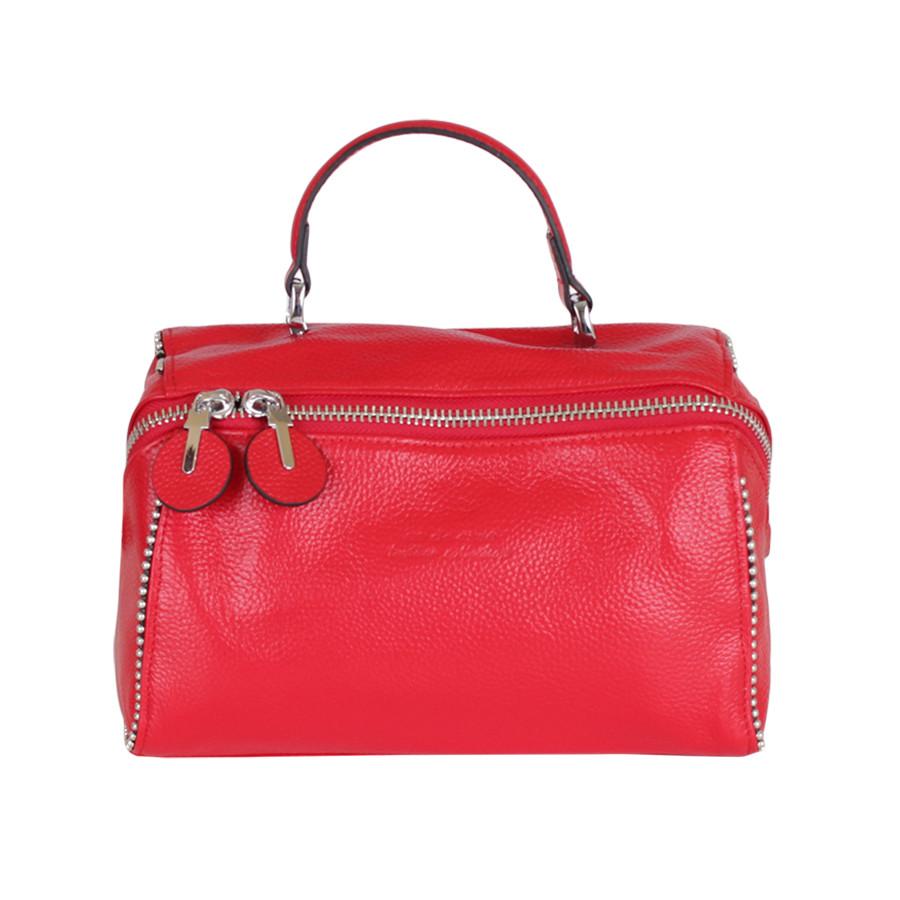 Женская кожаная сумка de esse красная