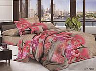 Комплект постельного белья ранфорс полуторный Цветы на ветке с узором