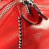 Женская кожаная сумка de esse красная, фото 5