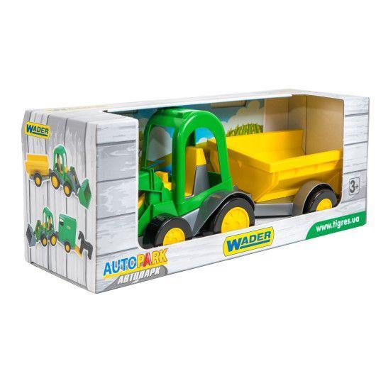 Трактор-багги с ковшом и прицепом Tigres