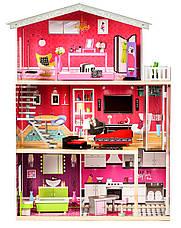 """Деревянный кукольный домик для Барби """"Малибу"""" EcoToys с лифтом, фото 2"""