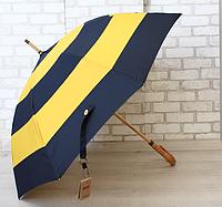 Стильный зонт-трость с деревяной ручкой, фото 1