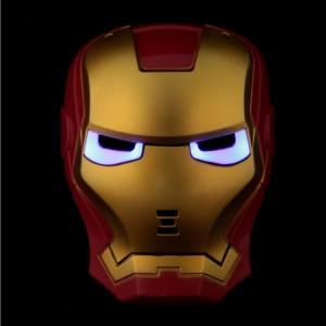 Маска Железного человека с неоновой подсветкой глаз