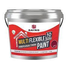"""Универсальная резиновая краска """"Multi Flexible Paint"""" 3 кг., Бордовый (RAL 3005)"""
