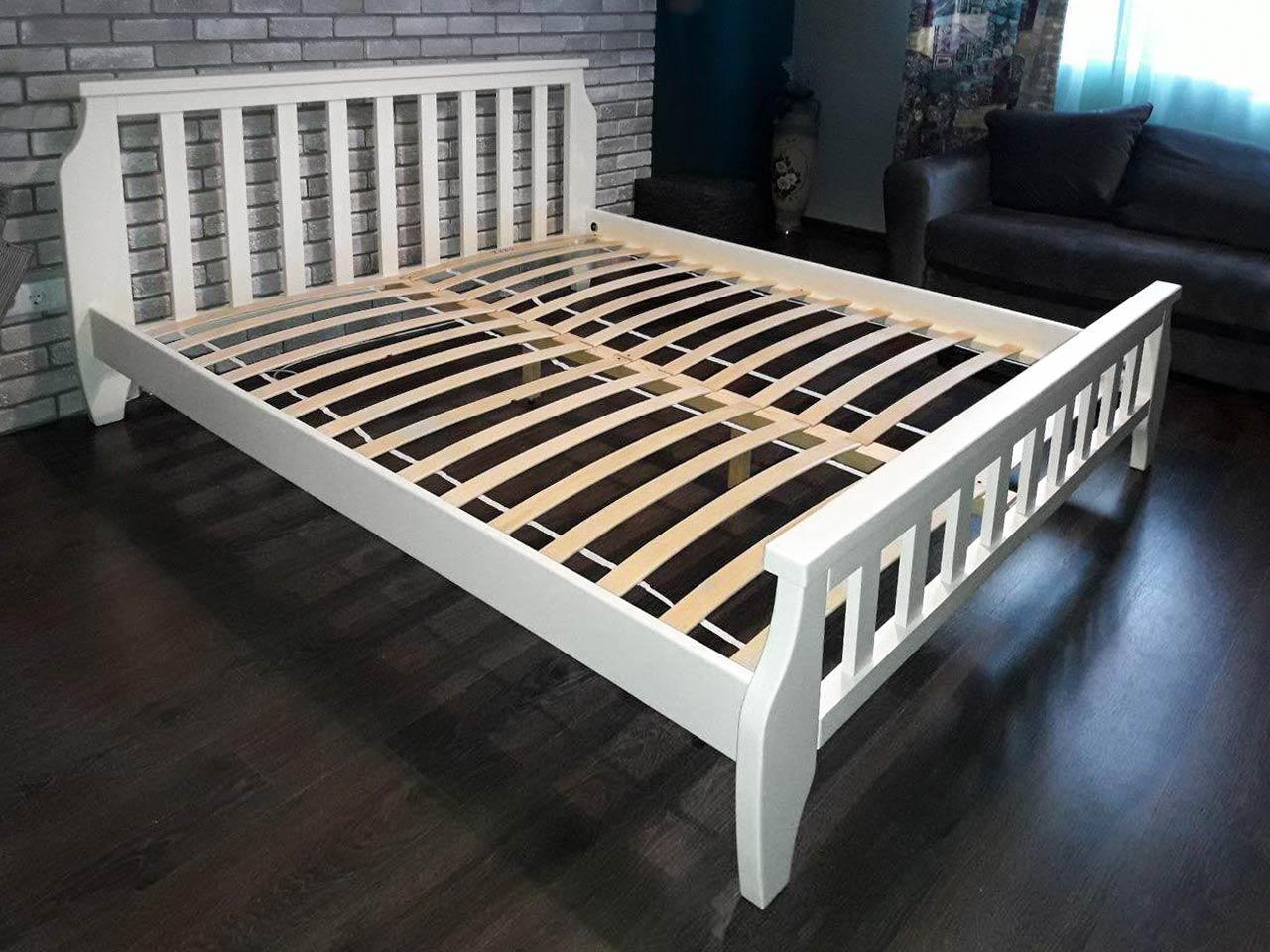 Кровать деревянная Марсель 180х200 Mebigrand сосна белая