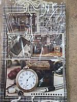 Подарочный пакет БОЛЬШОЙ ВЕРТИКАЛЬНЫЙ ''Мужской коричневый'' 25*37*8 см