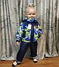 Детский демисезонный комбинезон куртка и штаны для мальчика зелёный 4-5 лет, фото 2