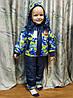 Детский демисезонный комбинезон куртка и штаны для мальчика зелёный 4-5 лет, фото 5