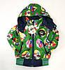 Детский демисезонный комбинезон куртка и штаны для мальчика зелёный 5-6 лет, фото 3