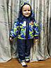 Детский демисезонный комбинезон куртка и штаны для мальчика зелёный 5-6 лет, фото 5