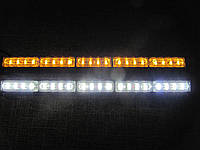 Световая панель LED 315-5. 12-24 В. жёлтая, белая, стробоскопы светодиодные.https://gv-auto.com.ua, фото 1
