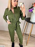 Женский модный комбинезон костюмка арт 112