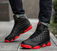 Кросівки полуботинки чорні з червоною підошвою