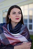 Женский платок Маре (синий+бордо с люрексом)