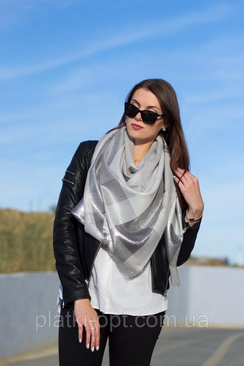 Женский платок Маре (серый+люрекс)