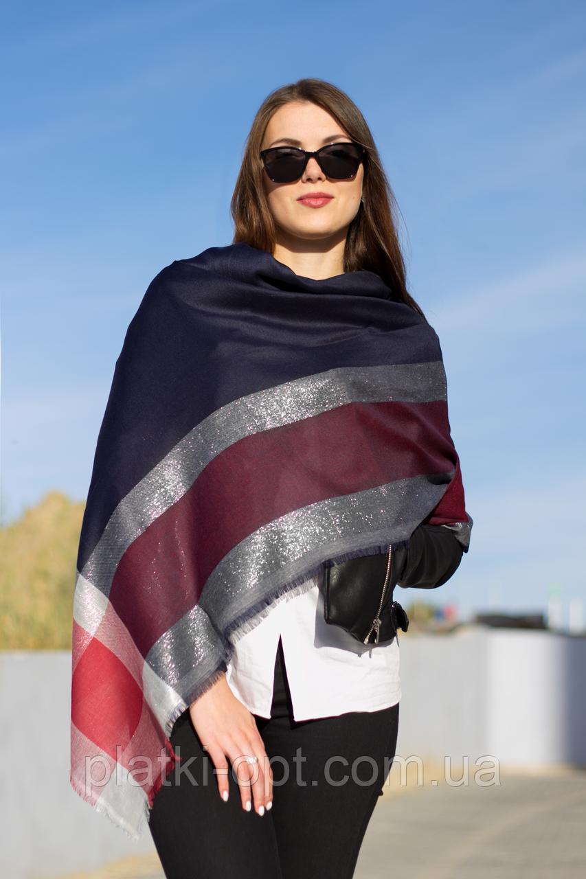 Женский платок Маре (синий+красный)