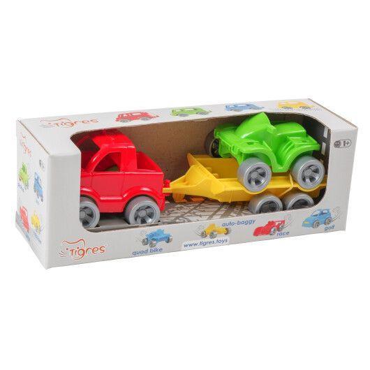 "Набор авто ""Kid cars Sport"" 3 эл. (Пикап + квадроцикл) Tigres"