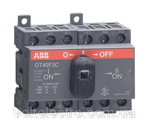 Рубильник реверсивный ABB OT40F3C 3 полюса 40A