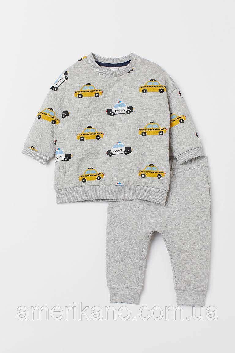 Спортивный костюм (Свитшот и легинсы) с принтом H&M на мальчика 12-18 месяцев