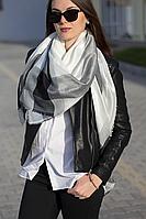 Женский платок Маре (белый+черный)