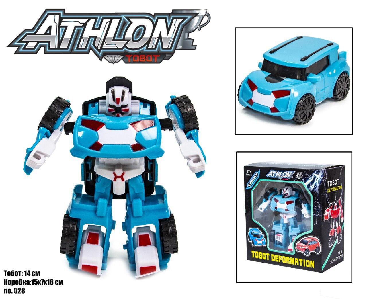 Робот-трансформер Tobot / Тобот Атлон (бирюзовый)  scn