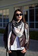 Женский платок Маре (серый+пудра), фото 1