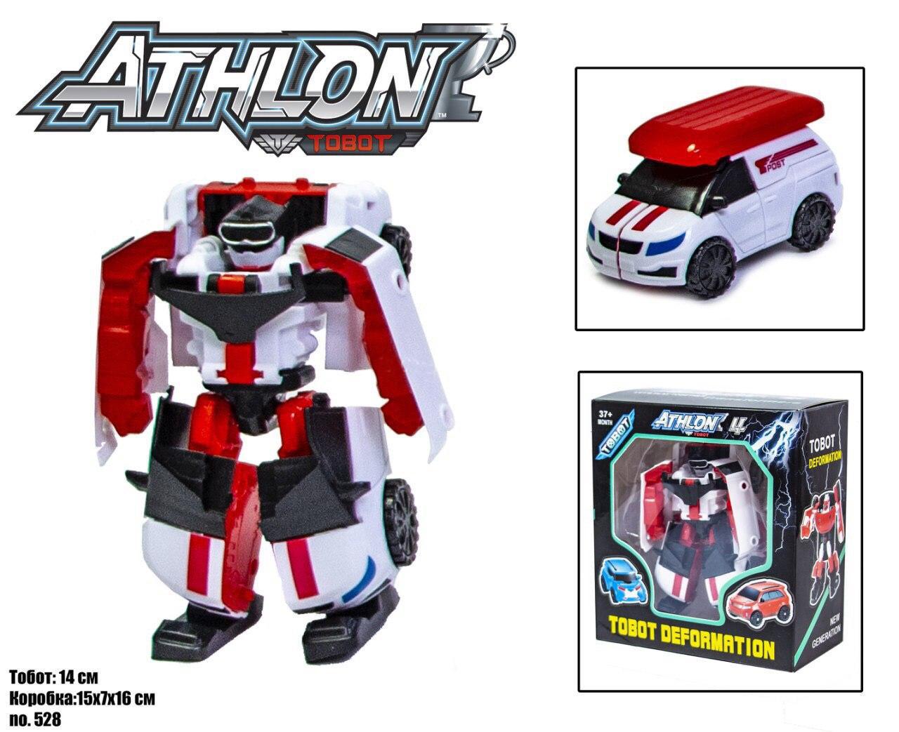 Робот-трансформер Tobot / Тобот Атлон (бело-красный)  scn