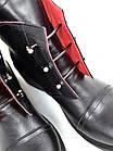 Женские ботинки в черном цвете, из натуральной кожи(под заказ 7-15 дней), фото 5