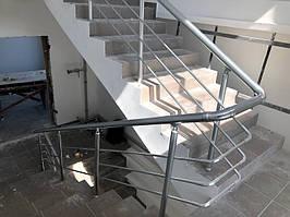 Алюминиевые перила для лестницы -1