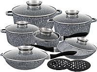 Набор посуды  с мраморным покрытием Edenberg  EB-8040 из 14 предметов