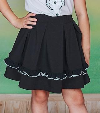 Школьная юбка с рюшей