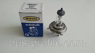 Автолампа H4 12V 60/55W P43t Headlamp Ultra Xenon +50% — Ring — R972