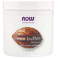 Масло какао Now Foods Solutions Cocoa Butter, 192 мл, фото 1