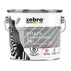 Эмаль антикоррозионная 3 в 1 Zebra 0.75кг (Белый глянцевый)