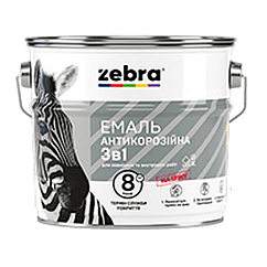 Эмаль антикоррозионная 3 в 1 Zebra 0.75кг (Темно-серый)