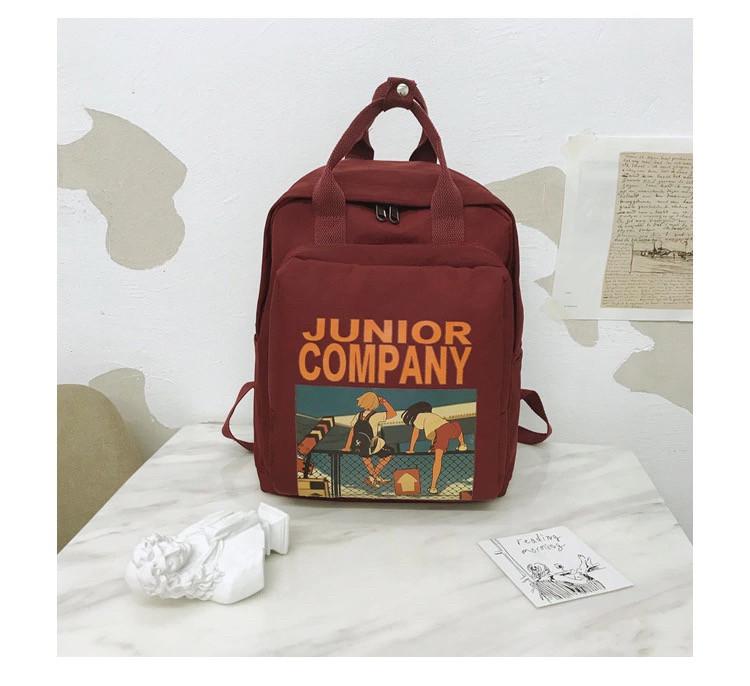 Рюкзак для девочки в японском стиле с аниме Хародзюку бардовый.