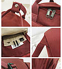 Рюкзак для девочки в японском стиле с аниме Хародзюку бардовый., фото 9