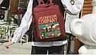 Рюкзак для девочки в японском стиле с аниме Хародзюку бардовый., фото 3