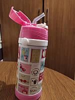 Термос детский с трубочкой Принты