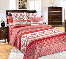 Лапландия красная, постельное белье из перкаля (100% хлопок)